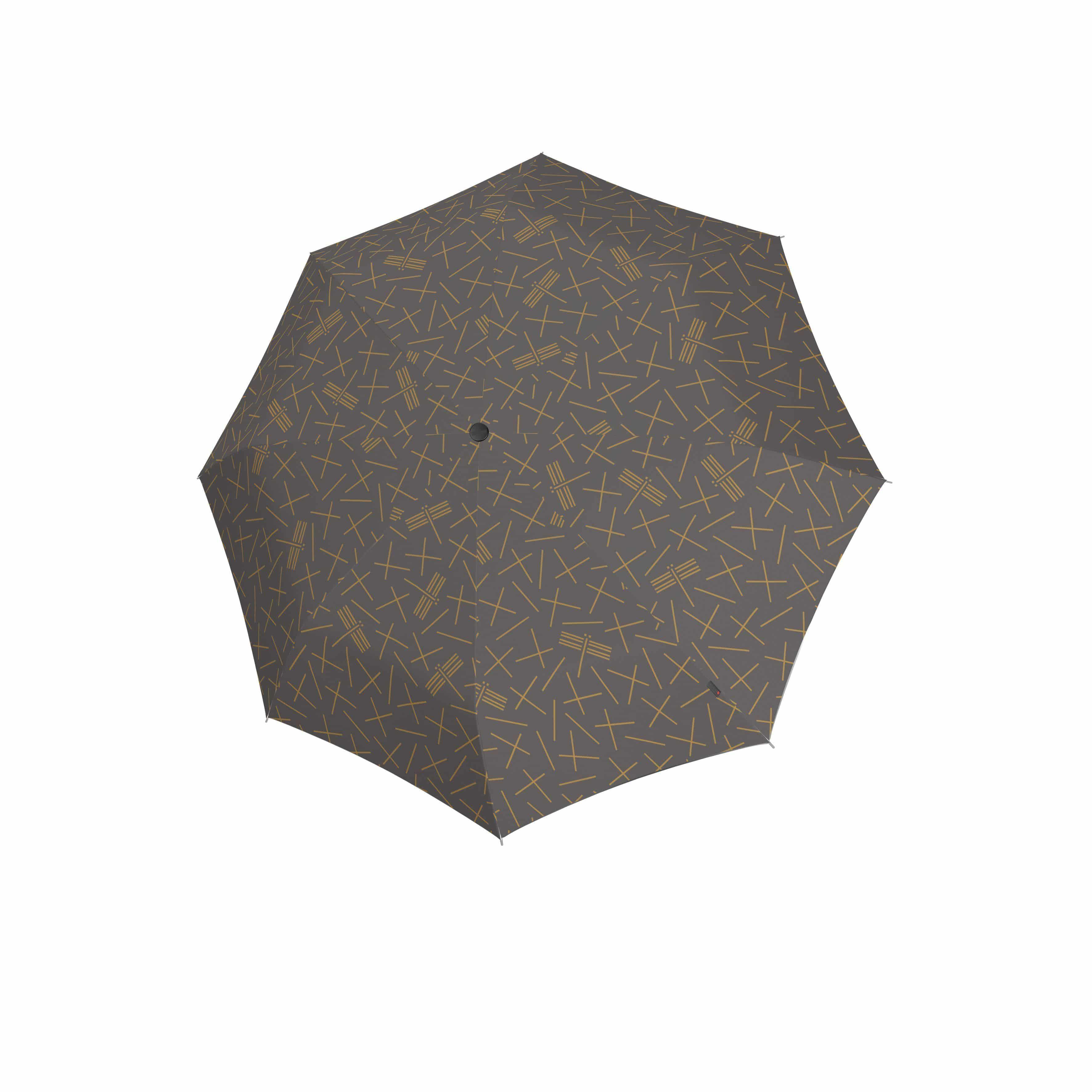 Knirps Umbrella Knirps T.200 medium duomatic NUNO tombo stone ecorepel with UV Protection